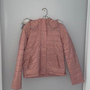 Fashion Nova coat with detachable hoodie